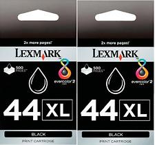 New Genuine Lexmark 44XL 2PK Ink Cartridges X Series X9650 X9675 Z Series Z1520