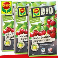 COMPO 3 x 3 Pièce Bio Kirschfruchtfliegen-Fallen Pour Kirsch- Et Walnussbäume