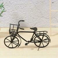 Puppenhaus Miniatur Schwarz Metall Fahrrad Fahrrad Garten homer 1:12 Maßsta Y7P9