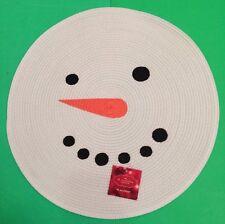 "SET OF 4 (FOUR) ADORABLE ROUND 15"" SNOWMEN PLACEMATS NWT!"
