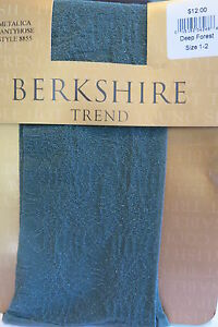 Berkshire Trend Metalica Luxury Women's Stockings Size SMALL made in USA