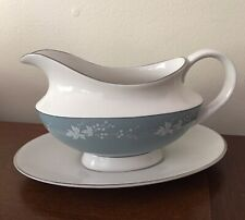 (1) Gravy Boat With Unattached Under Plate Royal Doulton Reflection