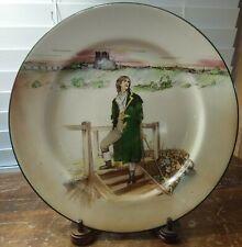 """Rare Royal Doulton Dickens-Ware Sydney Carton 10 1/2"""" Collectors Plate D 3016"""