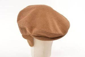 Borsalino NWT Wool Blend Newsboy w/Flaps Made in Italy in Camel 7 1/4, 58, M