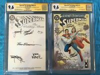 Superman: Wedding Album #1 Collectors and Reg. - DC - CGC SS 9.6 - Signed by 6x