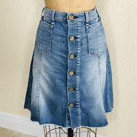 McGuire for ANTHROPOLOGIE Denim Colombier Button Front Jean Skirt I Size 29