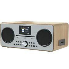 Azatom CD DAB DAB+ Radio Alarm Clock Bluetooth FM Speaker charger Trinity Oak