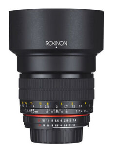 Rokinon 85mm F1.4 Full Frame Lens (Nikon F with Automatic Chip)