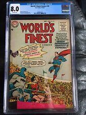 WORLD'S FINEST COMICS #78 CGC VF 8.0; OW; Sprang art! rare!
