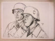 Panzer Stug Soldiers postcard German artwork by Willrich ww2 Stuka