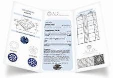 ANELLO SOLITARIO ORO BIANCO DIAMANTE NATURALE D VS1 0.50 CARATI CERTIFICATO AIG