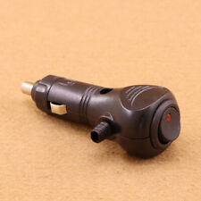 12V Male Cigarette Lighter Charger Socket Connector Plug LED On Off Switch