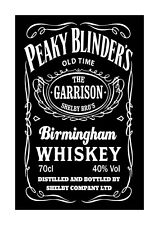 Peaky Blinders Jack Daniels A4 reproduction signed poster 1 with choice of frame