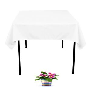 New 12 X Tablecloths Table Cloth Wedding White 220cm x 220cm SQUARE Event party