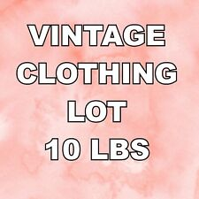 10 lbs. Vintage Mixed Lot of Women's clothing 70s, 80s, 90s