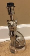 NEW Pottery Barn Kids Mini Kitty Lamp SILVER