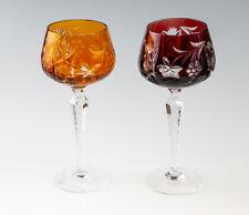 2 antike Nachtmann Weinrömer Weingläser Traube Gläser Bleikristall Wein Römer