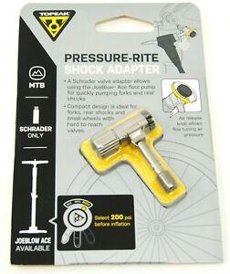 Topeak TSA-01 Pressure-Rite Shock Adapter for MTB Bike Schrader Valve Floor Pump