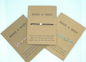 Make A Wish Bracelet - Upon a Star or Love Charm Friendship Inspirational Gift
