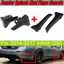 For 2014-2017 Infiniti Q50 Front & Rear Fender Splash Guards Mud Flaps Mudguards