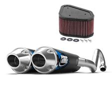 HMF Competition Comp Dual Full System Exhaust + K&N Air Filter KFX 700 2004-2010