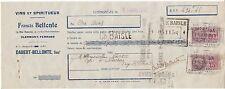 ORDRE DE PAIEMENT FRANCIS BELLONTE CLERMONT FERRAND VINS 1940  TIMBRES FISCAUX