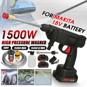 1500W High Pressure Cordless Washer Spray Water Cleaner For Makita 18V Battery