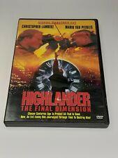 Highlander 3: The Final Dimension (Dvd, 2005)