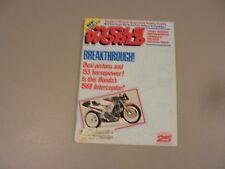 AUGUST 1987 CYCLE WORLD MAGAZINE,YAMAHA FZR1000,HONDA NR750 ROCKETBIKE,88 HONDA