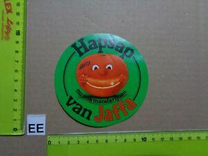Alter Aufkleber Obst Orangen Citrusfrüchte JAFFA (A)