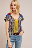 NWT Anthropologie Teresita Scarf-Printed Blouse Moulinette Soeurs Size 4 fits 6