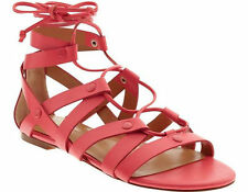 NIB BANANA REPUBLIC FIRE CORAL TELLY LACE UP SANDALS SIZE 5.5