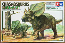 TAMIYA 60101 Chasmosaurus DIORAMA SET 1/35 in plastica modello Figura/KIT PENNINO