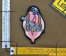 "Ricamata / Embroidered Patch ""Tactical Vagina"" with VELCRO® brand hook"