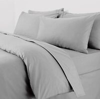 Silver Grey Plain Dyed Polycotton Pillow Cases - UK Made