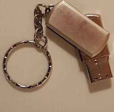 Portachiavi con chiavetta USB PEN DRIVE 4 Gb colore argento - NUOVA