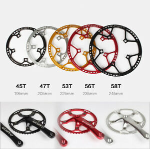 130mm BCD MTB Folding Road Bike Chainring tooth plate 45 /47 /53 /56 / 58T
