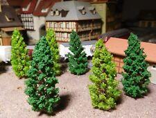 50 Tannen, Nadelbäume, mittelgrün und dunkelgrün  68 mm hoch - versandkostenfrei