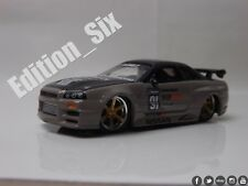 Jada Toys 1:64 Nissan Skyline R34 GTR Drift Tuner Car Option D JDM Sports car a
