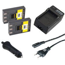 2x Batteria Patona + caricabatteria casa/auto per Canon Digital Ixus VII,V,V2,V3