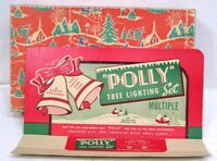 Vintage Christmas Polly Tree Lights Box ONLY Great Graphics Display Card 1950s