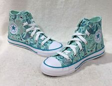 Converse Girl's CTAS Hi Top Ocean Mint/Teal/White Sneakers - Size 1 NWB 667202F
