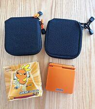 Nintendo Gameboy Advance SP console Pokemon Center Torchic Orange