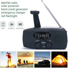 Emergency Solar Hand Crank Dynamo AM/FM Weather Radio 3LED Torch Survival Charge