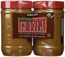 Kirkland Signature Organic Creamy Peanut Butter 100% Valencia Peanuts 2x28 oz