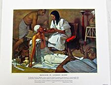 Medical Art-Medicine in Ancient Egypt Vintage Ltd Ed Offset Lithograph Unsigned