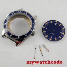 Case fit 2824 2836 8215 Movement 41mm blue ceramic bezel sapphire glass Watch