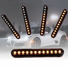 2x Sequential Flowing 12 LED Mini Strips Car Motorcycle LED Turn Signal Lights