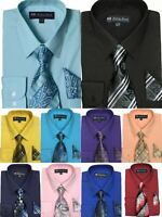 New Men's Dress Shirt w/ Matching Tie and Handkerchief Set  SG-21( B.A)