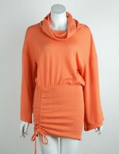 Free People Sundown Mini Dress Cowl Neck Dolman Sleeve Cinched Skirt XS New